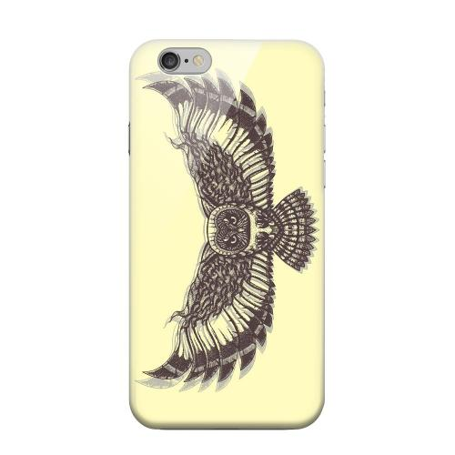 Geeks Designer Line (GDL) Apple iPhone 6 Matte Hard Back Cover - Flying Owl on Yellow