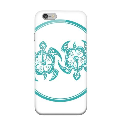 Geeks Designer Line (GDL) Apple iPhone 6 Matte Hard Back Cover - Aqua Island Turtle Duo