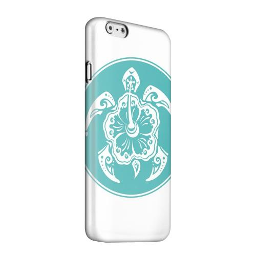 Geeks Designer Line (GDL) Apple iPhone 6 Matte Hard Back Cover - Aqua Island Turtle Solo