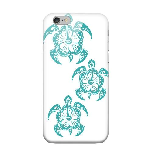 Geeks Designer Line (GDL) Apple iPhone 6 Matte Hard Back Cover - Aqua Island Turtle Trail