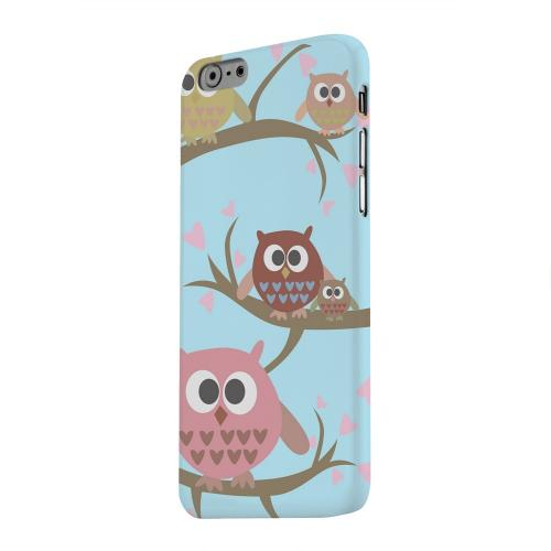 Geeks Designer Line (GDL) Apple iPhone 6 Matte Hard Back Cover - Round Owl Hangout