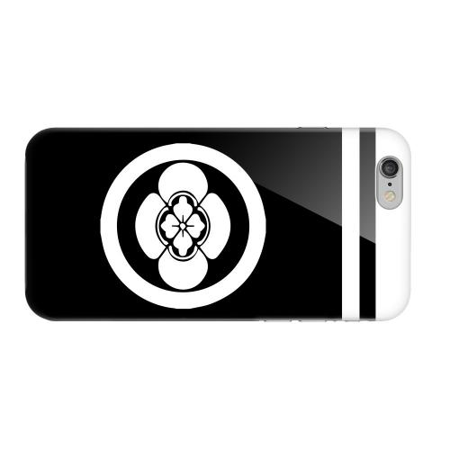 Geeks Designer Line (GDL) Apple iPhone 6 Matte Hard Back Cover - White Boke Kamon w/ Stripe