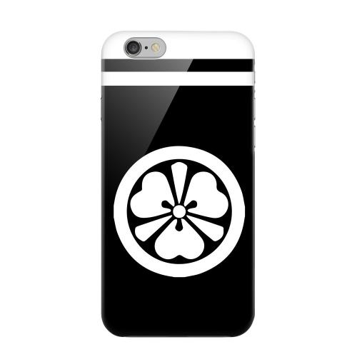Geeks Designer Line (GDL) Apple iPhone 6 Matte Hard Back Cover - White Katabami Kamon w/ Stripe v.3
