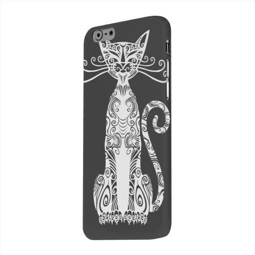Geeks Designer Line (GDL) Apple iPhone 6 Matte Hard Back Cover - Kitty Nouveau on Black