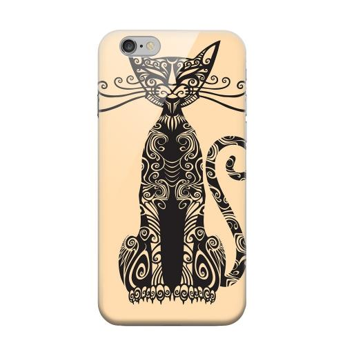 Geeks Designer Line (GDL) Apple iPhone 6 Matte Hard Back Cover - Kitty Nouveau on Peach