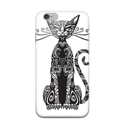 Geeks Designer Line (GDL) Apple iPhone 6 Matte Hard Back Cover - Kitty Nouveau on White