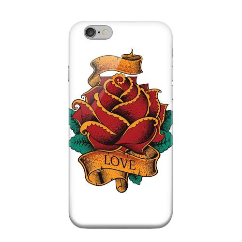 Geeks Designer Line (GDL) Apple iPhone 6 Matte Hard Back Cover - Love Rose on White