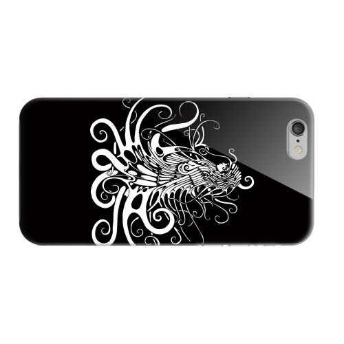 Geeks Designer Line (GDL) Apple iPhone 6 Matte Hard Back Cover - White Medusa on Black