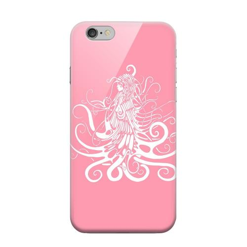 Geeks Designer Line (GDL) Apple iPhone 6 Matte Hard Back Cover - White Medusa on Pink