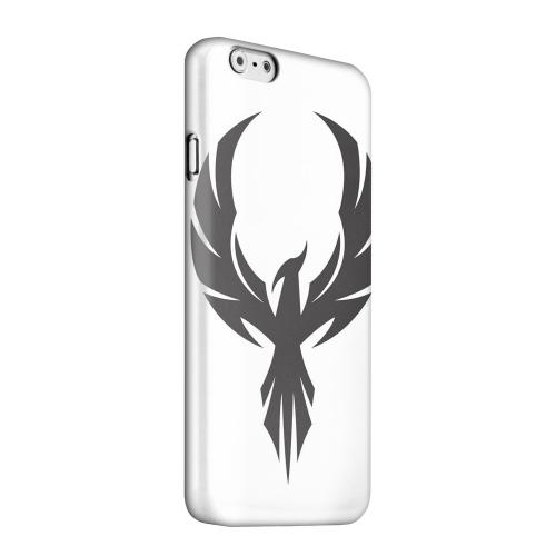Geeks Designer Line (GDL) Apple iPhone 6 Matte Hard Back Cover - Black Phoenix on White