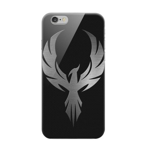 Geeks Designer Line (GDL) Apple iPhone 6 Matte Hard Back Cover - Phoenix Metal on Dark Gray Texture