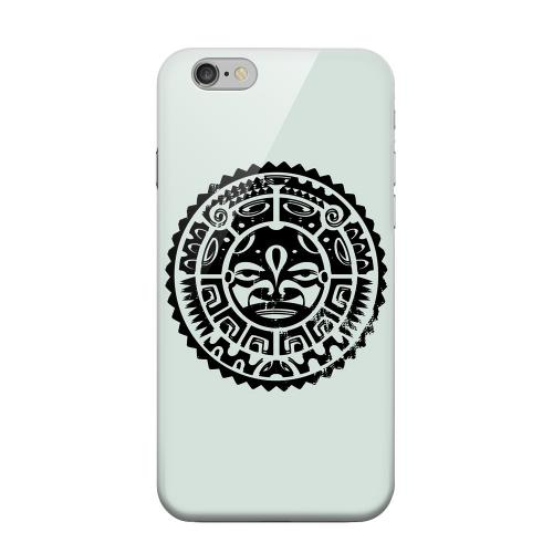 Geeks Designer Line (GDL) Apple iPhone 6 Matte Hard Back Cover - Polynesian Face on Gray