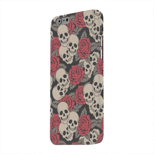 Geeks Designer Line (GDL) Apple iPhone 6 Matte Hard Back Cover - Rose Skulls