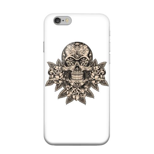 Geeks Designer Line (GDL) Apple iPhone 6 Matte Hard Back Cover - Skull Roses