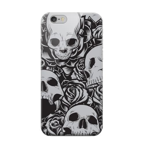 Geeks Designer Line (GDL) Apple iPhone 6 Matte Hard Back Cover - Skulls Rose Gray