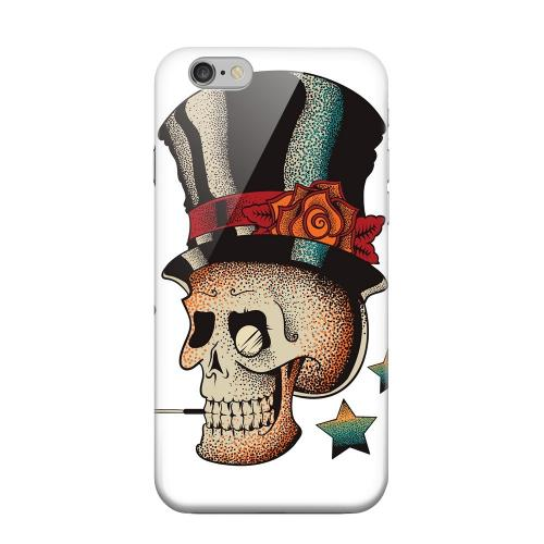 Geeks Designer Line (GDL) Apple iPhone 6 Matte Hard Back Cover - Smoking Skull on White