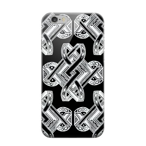 Geeks Designer Line (GDL) Apple iPhone 6 Matte Hard Back Cover - Tribal Art on Black
