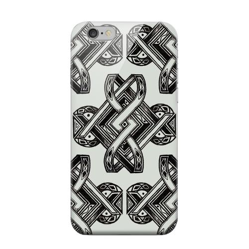 Geeks Designer Line (GDL) Apple iPhone 6 Matte Hard Back Cover - Tribal Art on Gray