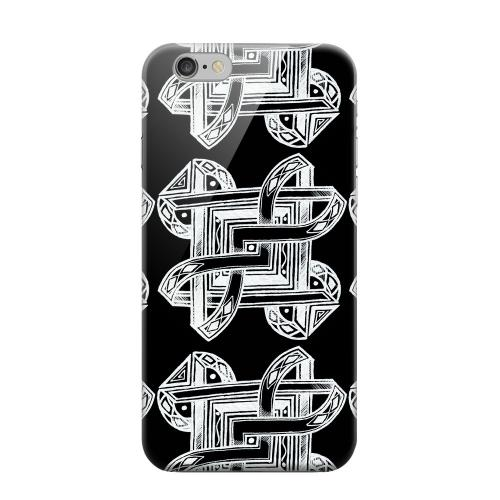 Geeks Designer Line (GDL) Apple iPhone 6 Matte Hard Back Cover - Tribal Art Pattern on Black