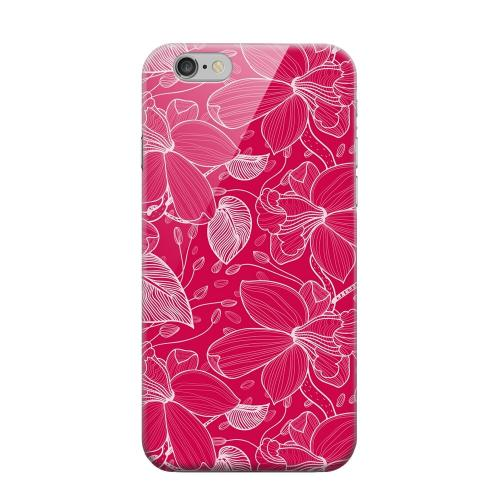Geeks Designer Line (GDL) Apple iPhone 6 Matte Hard Back Cover - White on Pink Orchid Lines