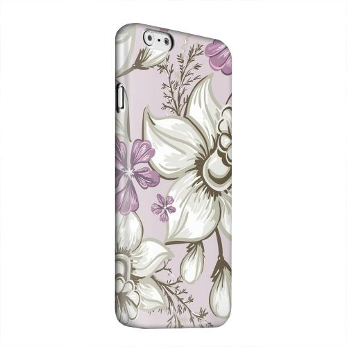 Geeks Designer Line (GDL) Apple iPhone 6 Matte Hard Back Cover - White and Violet Orchids