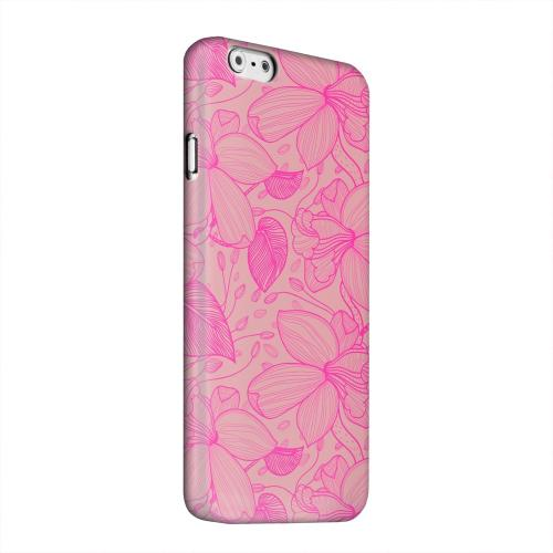 Geeks Designer Line (GDL) Apple iPhone 6 Matte Hard Back Cover - Pink on Pink Orchid Lines
