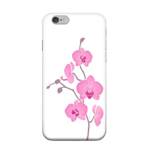 Geeks Designer Line (GDL) Apple iPhone 6 Matte Hard Back Cover - Pink Minimal Orchid Art