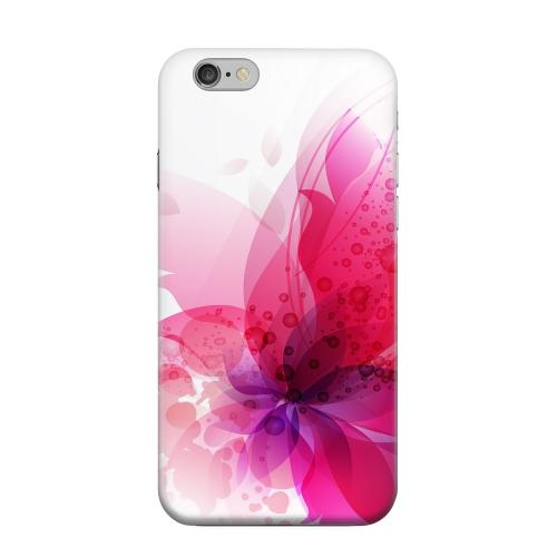 Geeks Designer Line (GDL) Apple iPhone 6 Matte Hard Back Cover - Hot Pink Orchid Swoosh Fade