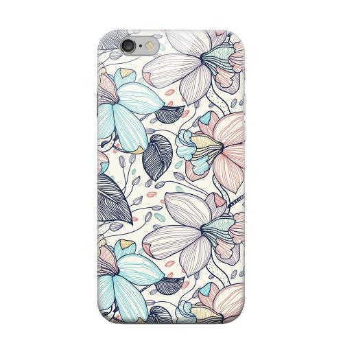 Geeks Designer Line (GDL) Apple iPhone 6 Matte Hard Back Cover - Colorful Orchid Lines
