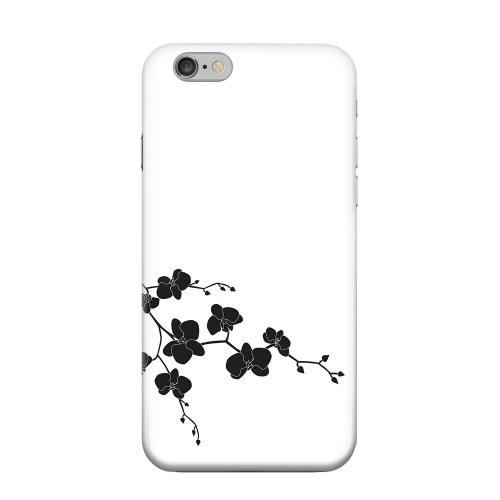 Geeks Designer Line (GDL) Apple iPhone 6 Matte Hard Back Cover - Clean Solid Black Orchid Art