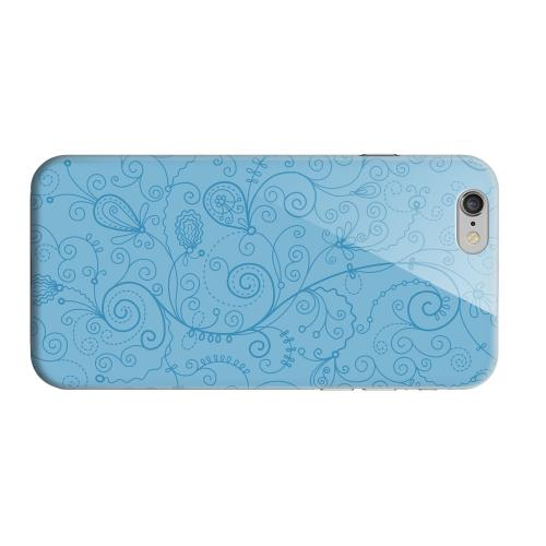 Geeks Designer Line (GDL) Apple iPhone 6 Matte Hard Back Cover - Floral 1 Dusk Blue
