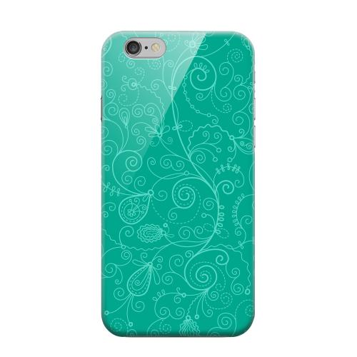 Geeks Designer Line (GDL) Apple iPhone 6 Matte Hard Back Cover - Floral 1 Emerald