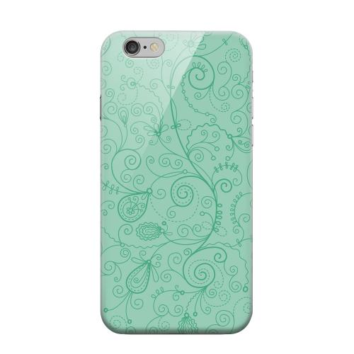 Geeks Designer Line (GDL) Apple iPhone 6 Matte Hard Back Cover - Floral 1 Grayed Jade