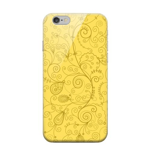 Geeks Designer Line (GDL) Apple iPhone 6 Matte Hard Back Cover - Floral 1 Lemon Zest