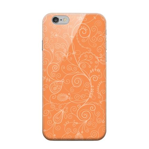 Geeks Designer Line (GDL) Apple iPhone 6 Matte Hard Back Cover - Floral 1 Nectarine