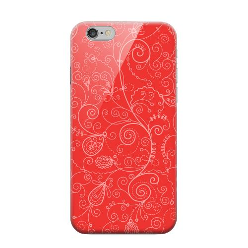 Geeks Designer Line (GDL) Apple iPhone 6 Matte Hard Back Cover - Floral 1 Poppy Red
