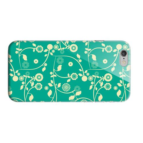 Geeks Designer Line (GDL) Apple iPhone 6 Matte Hard Back Cover - Floral 2 Emerald