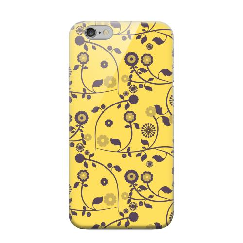 Geeks Designer Line (GDL) Apple iPhone 6 Matte Hard Back Cover - Floral 2 Lemon Zest