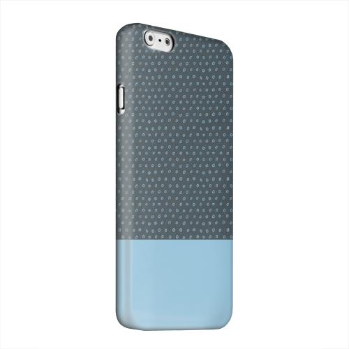 Geeks Designer Line (GDL) Apple iPhone 6 Matte Hard Back Cover - Little Circle Dots Dusk Blue