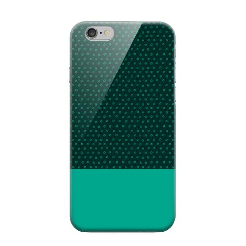 Geeks Designer Line (GDL) Apple iPhone 6 Matte Hard Back Cover - Little Circle Dots Emerald