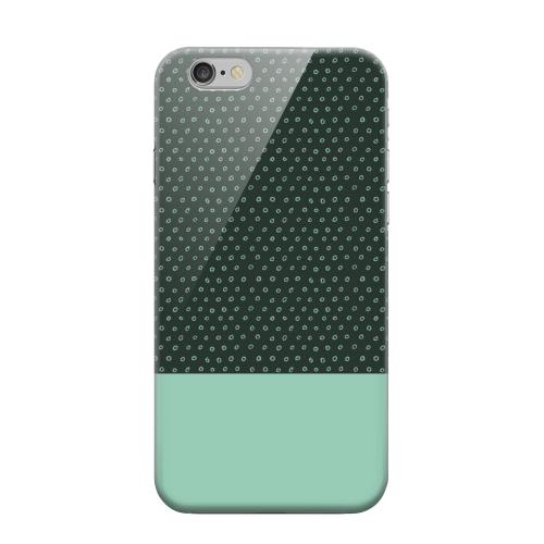 Geeks Designer Line (GDL) Apple iPhone 6 Matte Hard Back Cover - Little Circle Dots Grayed Jade