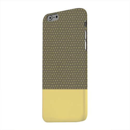 Geeks Designer Line (GDL) Apple iPhone 6 Matte Hard Back Cover - Little Circle Dots Lemon Zest