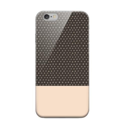 Geeks Designer Line (GDL) Apple iPhone 6 Matte Hard Back Cover - Little Circle Dots Linen