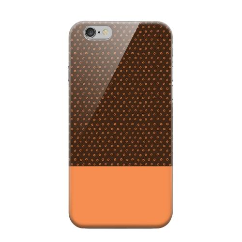 Geeks Designer Line (GDL) Apple iPhone 6 Matte Hard Back Cover - Little Circle Dots Nectarine
