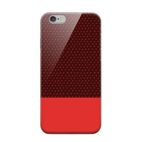 Geeks Designer Line (GDL) Apple iPhone 6 Matte Hard Back Cover - Little Circle Dots Poppy Red