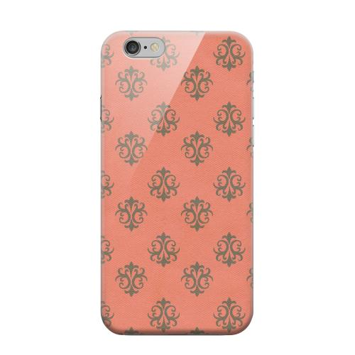 Geeks Designer Line (GDL) Apple iPhone 6 Matte Hard Back Cover - Ornamental Poppy Red