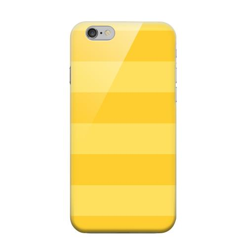 Geeks Designer Line (GDL) Apple iPhone 6 Matte Hard Back Cover - Stripes Lemon Zest