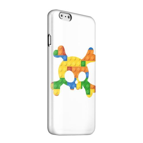 Geeks Designer Line (GDL) Apple iPhone 6 Matte Hard Back Cover - Blocks Crossbones