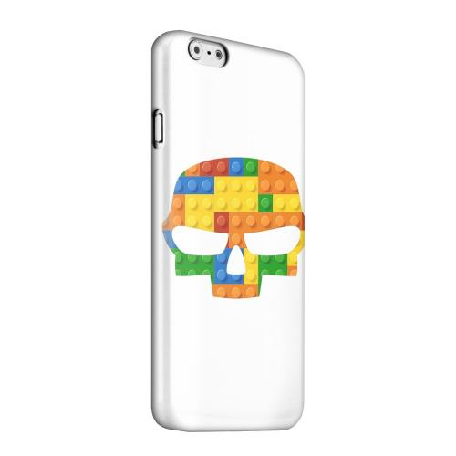 Geeks Designer Line (GDL) Apple iPhone 6 Matte Hard Back Cover - Blocks Fatskull