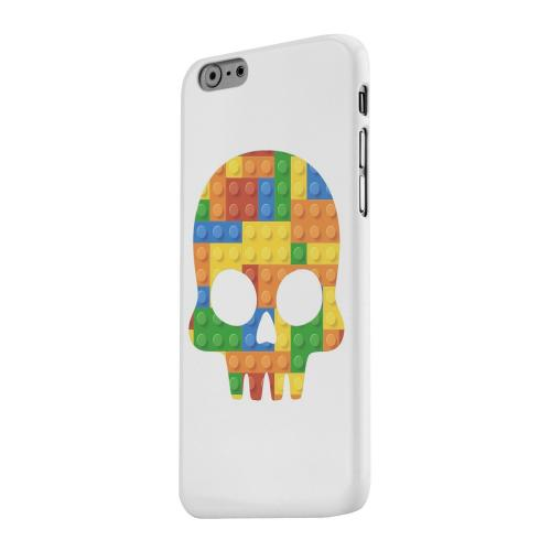 Geeks Designer Line (GDL) Apple iPhone 6 Matte Hard Back Cover - Blocks Skull